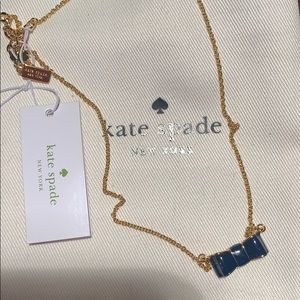 Kate spade ♠️ Bow necklace- Gold/Navy- New